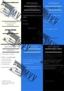 valeting leaflet template
