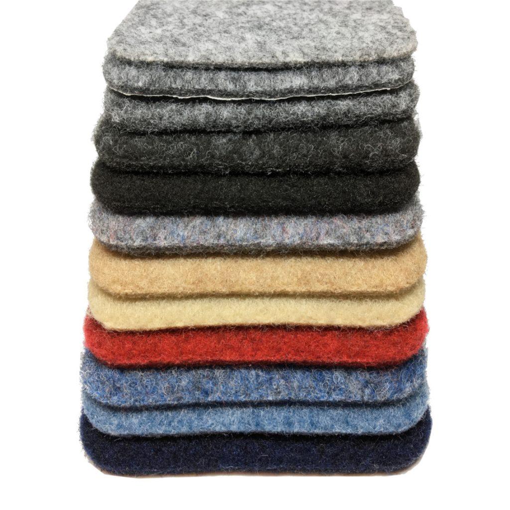 carpet lining colours